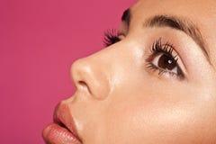 Maquillaje sutil de la belleza y del concepto de la piel fotos de archivo