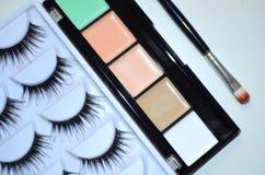 Maquillaje, todo para el maquillaje Foto de archivo