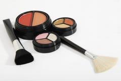 Maquillaje y brushies Foto de archivo