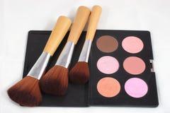 Maquillaje y cepillos Foto de archivo libre de regalías