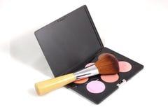 Maquillaje y cepillos Fotografía de archivo libre de regalías