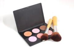 Maquillaje y cepillos Imagen de archivo libre de regalías