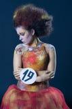 Maquillaje y competencia de los artistas del pelo Fotografía de archivo