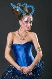 Maquillaje y competencia de los artistas del pelo Imagen de archivo libre de regalías