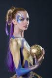 Maquillaje y competencia de los artistas del pelo Imágenes de archivo libres de regalías