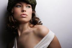 Maquillaje y manera Imagen de archivo libre de regalías
