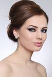 Maquillaje y peinado foto de archivo libre de regalías