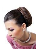 Maquillaje y peinado del estilo Fotografía de archivo libre de regalías