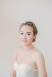Maquillaje y sonrisa asiáticos de la mujer Imágenes de archivo libres de regalías