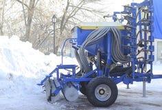 Maquinaria agrícola, cultivador Fotografia de Stock Royalty Free