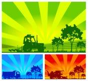 Maquinaria agrícola, vector Imágenes de archivo libres de regalías