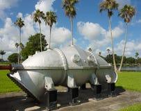 Maquinaria antiga da gestão da água na exposição em florida Fotografia de Stock