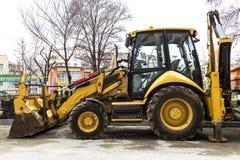 maquinaria da máquina escavadora do escavador da pá de trator do equipamento da indústria da máquina da colher da escavadora Imagens de Stock Royalty Free