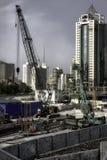 Maquinaria de construção pesada no trabalho Imagem de Stock