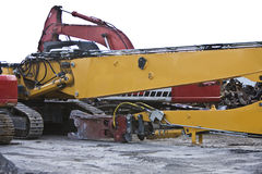Maquinaria de la demolición Foto de archivo libre de regalías