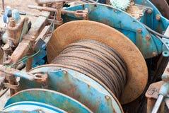 Maquinaria de la pesca Foto de archivo libre de regalías