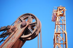 Maquinaria de mineração do ouro Foto de Stock