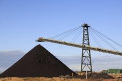 Maquinaria del cargamento del carbón Imagenes de archivo