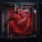 Maquinaria del corazón stock de ilustración