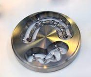 Maquinaria dental do CAD CAM do disco para moer foto de stock