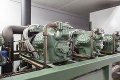 Maquinaria do compressor Imagens de Stock