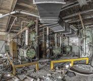 Maquinaria em uma fábrica abandonada Imagem de Stock Royalty Free