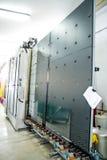 Maquinaria, fábrica de la ventana de cristal Imagen de archivo libre de regalías
