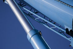 Maquinaria hidráulica moderna imagens de stock royalty free