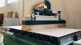 Maquinaria industrial usada para a produção de painéis e de folha Imagem de Stock