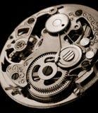 Maquinaria mecânica do relógio Fotos de Stock Royalty Free