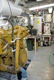 Maquinaria no quarto de motor do navio Imagens de Stock Royalty Free