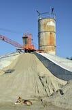 Maquinaria para preparar uma solução de cimento e de s Imagens de Stock