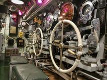 Maquinaria pesada a bordo de un submarino Imagen de archivo