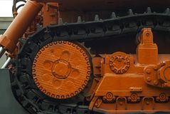 Maquinaria pesada na plataforma railway fotos de stock