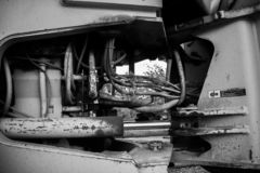 Maquinaria preto e branco fotos de stock