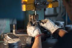 Maquinaria, trabalhador Fotografia de Stock