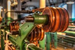 Maquinaria vieja mostrada en Clseup Imagen de archivo libre de regalías