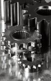 Maquinaria y titanio del engranaje Fotografía de archivo