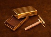 Maquinilla de afeitar de seguridad de la vendimia Imagen de archivo