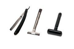 Maquinilla de afeitar de tres máquinas de afeitar fotografía de archivo