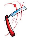 Maquinilla de afeitar recta Foto de archivo