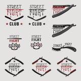 Maquinilla de afeitar recta de la lucha de la calle stock de ilustración