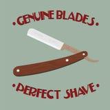 Maquinilla de afeitar retra con la maneta de madera Imagen de archivo
