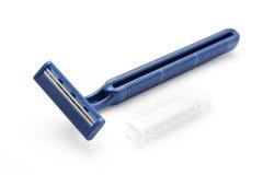 Maquinillas de afeitar azules disponibles Foto de archivo libre de regalías