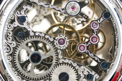 Maquinismo de relojoaria Fotos de Stock Royalty Free