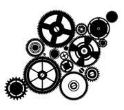 Maquinismo de relojoaria da silhueta Imagens de Stock Royalty Free