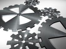 Maquinismo de relojoaria de aço de trabalho ilustração royalty free