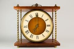 Maquinismo de relojoaria do relógio Imagem de Stock Royalty Free