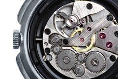 Maquinismo de relojoaria do relógio de pulso fotos de stock