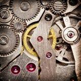Maquinismo de relojoaria mecânico. fotos de stock